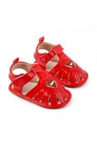 Sandale rosii pentru fetite - Heart