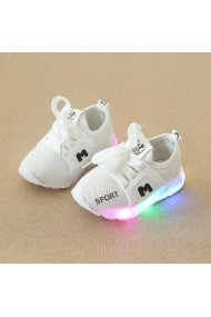 Adidasi albi cu luminite - Fashion