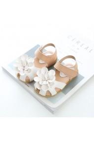Sandale albe cu crem - Princess flower