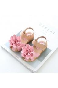 Sandale roz cu crem - Princess flower