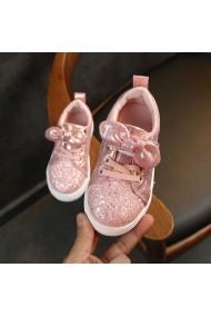 Adidasi roz cu sclipici pentru fetite