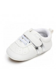Adidasi bebelusi cu dungi argintii