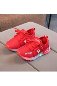 Adidasi rosii cu luminite - Fashion