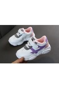 Adidasi copii cu dungi lila