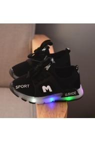 Adidasi negrii cu luminite - Fashion