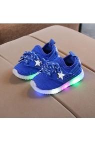 Adidasi albastri cu steluta alba si luminite