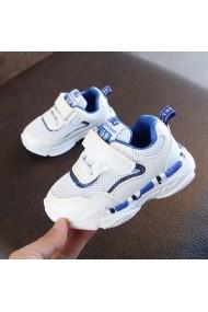 Adidasi albi cu margini albastre