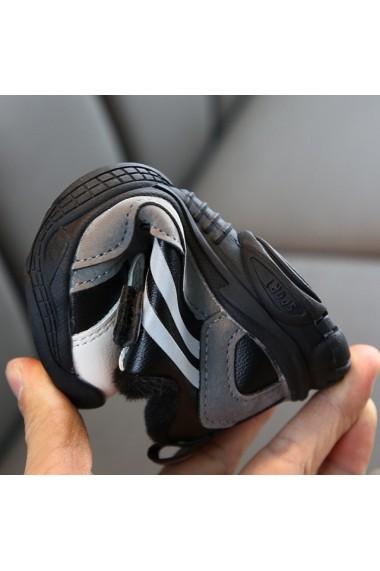 Adidasi argintiu cu negru