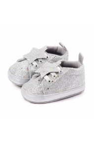Adidasi fetite cu slipici argintiu