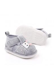 Sandalute gri pentru fetite - Buburuza