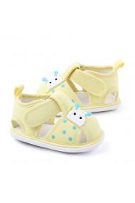 Sandalute galbene pentru fetite - Buburuza
