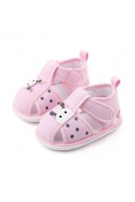 Sandalute roz pentru fetite - Buburuza
