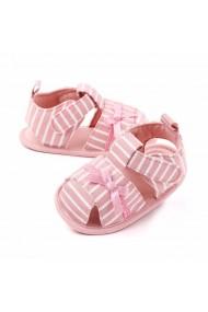 Sandalute roz somon cu dungulite pentru fetite