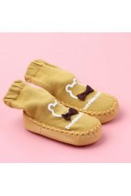 Mocasini galben mustar copii - Papion
