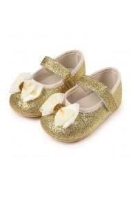 Pantofiori aurii cu sclipici - Glitter