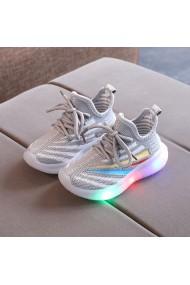 Adidasi gri cu insertii colorate si cu luminite