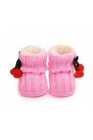 Botosei crosetati roz - Doi ciucurasi