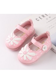 Pantofiori roz cu floricica alba