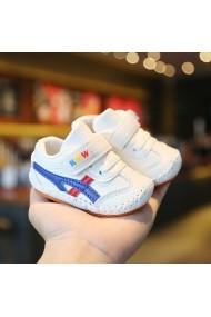 Adidasi albi cu dungi pentru bebelusi