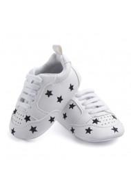 Pantofi sport Superbebeshoes Black star MBD0813-Alb