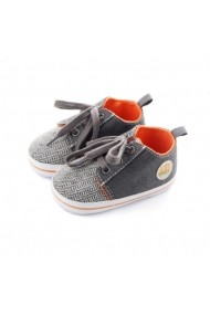 Pantofiori Superbebeshoes pentru baietei MBDC0743-3-Gri