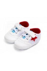 Pantofi sport Superbebeshoes Steluta rosie MBD0923-1-Alb