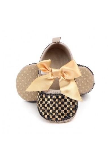 Pantofiori Superbebeshoes fetite de ocazie MBD0987-1-Negru