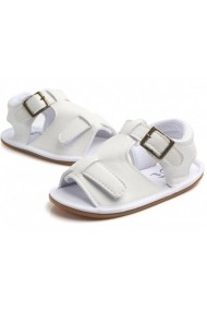 Sandalute Superbebeshoes baietei MDD0824-1-Alb
