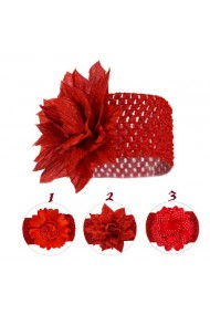 Bentita pentru fetite - Floarea rosie