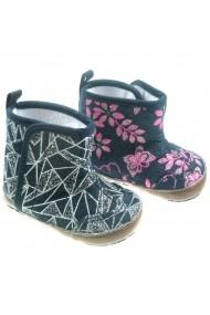 Cizmulite Soft Touch pentru bebelusi Denim Boots DEA1205-Alb