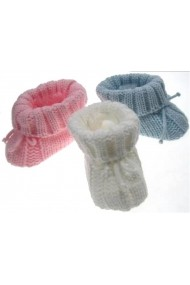 Botosei Sotf Touch crosetati pentru bebelusi DEA415-Roz