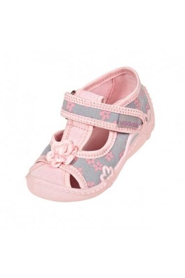 Pantofiori fetite cu floricele roz