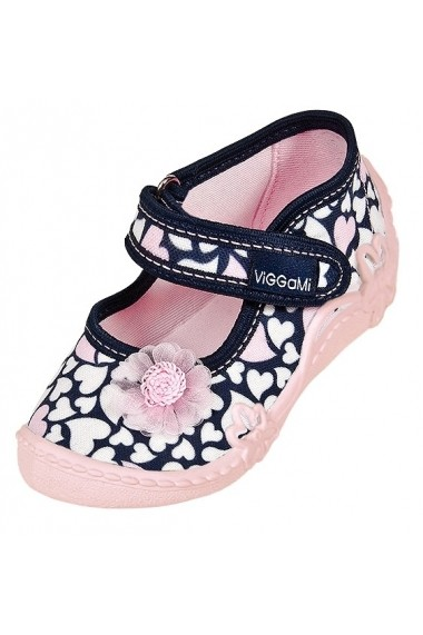 Pantofiori fetite - Inimioare albe