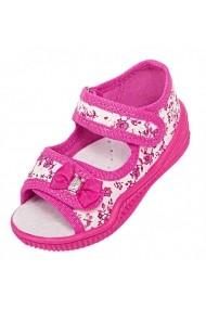 Sandalute pentru fetite - Floricele roz