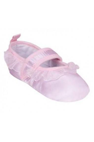 Pantofiori roz cu volanase