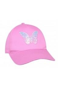 Sapca roz pentru fetite - Fluturas