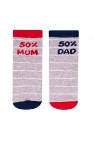 Sosete pentru copii cu mesaje - 50% Mum 50% Dad