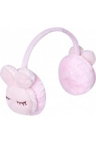 Bentita roz din blanita cu protectie pentru urechi - Urechiuse