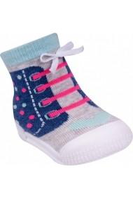 Mocasini fetite YO! cu talpa antiderapanta Happy Running Shoes OB-100-1-Multicolor