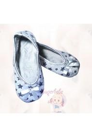 Balerini YO! plusati pentru fetite - Stars BL-13-2-Bleu