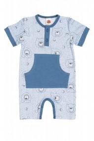 Salopeta - body de vara pentru bebelusi - Colectia Teddy Smile