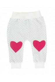 Pantaloni grosi pentru fetite din velour