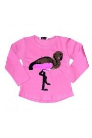 Bluzita roz cu paiete schimbatoare - Flamingo