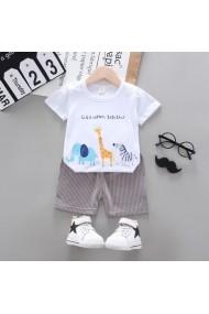 Costum bebelusi cu tricou alb - Safari