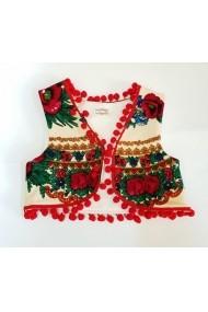 Vestuta accesorizata cu ciucurei - Ivoire Diva