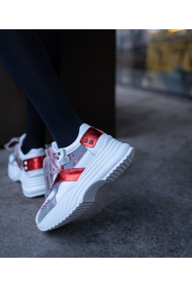 Sneakers Bigiottos din piele naturala alba BGT-270-alb