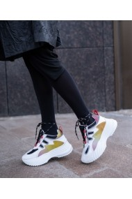 Sneakers Bigiottos din piele naturala alba BGT-084-30-alb