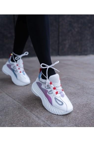Sneakers Bigiottos din piele naturala alba BGT-084-71-alb