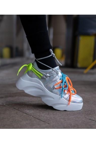 Sneakers Bigiottos din piele naturala gri hologram BGT-091-001-gri