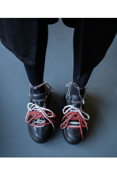Sneakers Bigiottos din piele naturala neagra BGT-091-001-negru